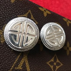 80s Givenchy Paris Signed Vintage Clip-on Earrings